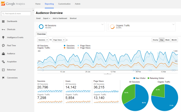 A Google Analytics Report