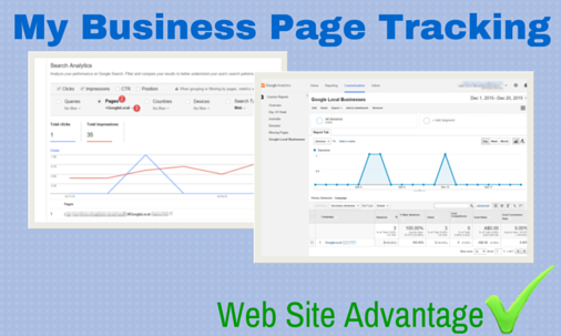 My Business Page Tracking