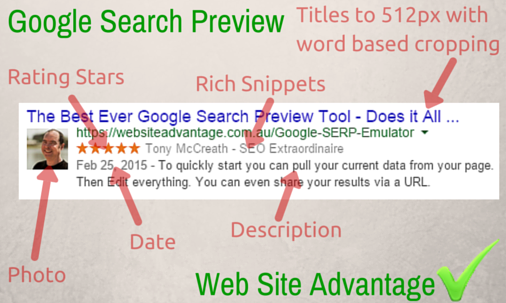 Google Result Preview Tool