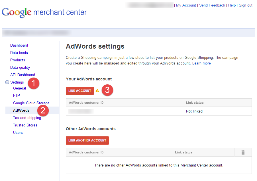 Linking your Merchant Center To AdWords